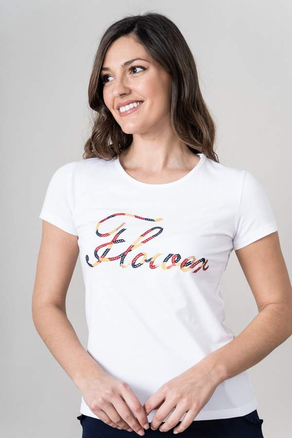 CAMISETA BORDADO FLOWER