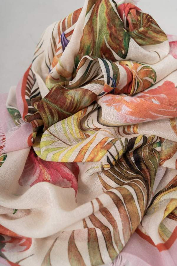 FOULARD ESTAMPADO TROPICAL